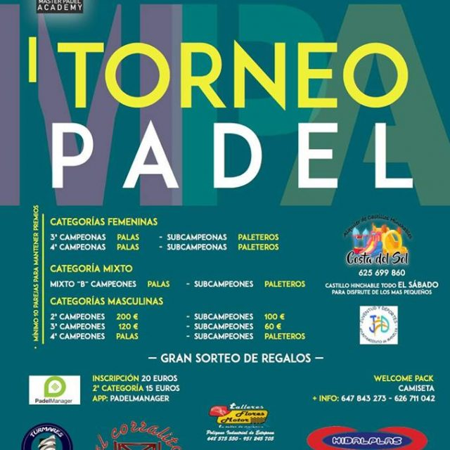 I Master Padel Academy Tournament